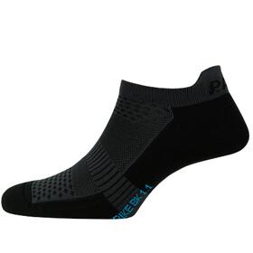 P.A.C. BK 1.1 Bike Footie Zip Socks Damer, black